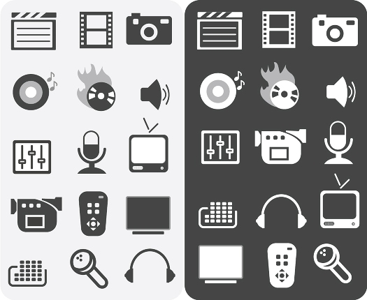 media icons by ipapun
